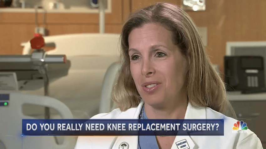 Dr. Shubin Stein featured in NBC Nightly News segment on Knee Replacement